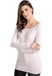 Blusa Básica Cantão - Feminino-Branco