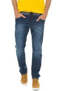 Calça Timberland Jeans Medium Denim Jogging Masculina - Masculino-Azul