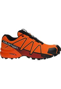 Tênis Salomon Masculino Speedcross 4 Laranja/Vermelho 45