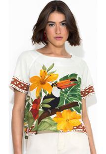 Blusa Desejo Tropical Branca