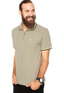 Camisa Polo Cavalera Basic Botão 2 Furos Cinza