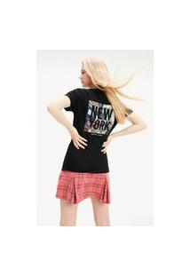 T-Shirt Tommy Jeans New York Preto Tam. Exg