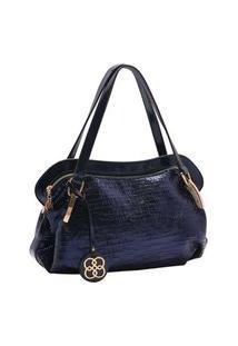 Bolsa Feminina Chenson Metalizado Glam Azul Marinho 3483184
