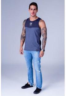 Calça Jeans Equivoco Slim Masculina - Masculino-Azul