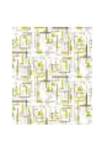 Papel De Parede Adesivo Decoração 53X10Cm Verde -W22551