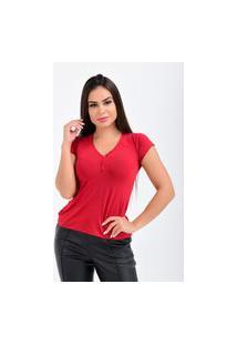 Camiseta Manga Curta Vermelha
