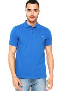 Camisa Polo M. Officer Bordado Azul