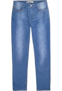 Calça Jeans Masculina Skinny Em Algodão Com Lavação