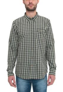 Camisa Manga Longa Plaid Coolmax