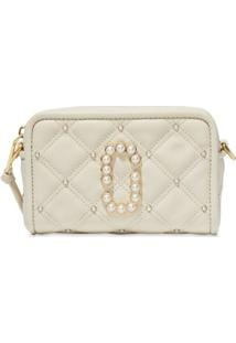 Marc Jacobs Bolsa Transversal The Quilted Softshot - Branco