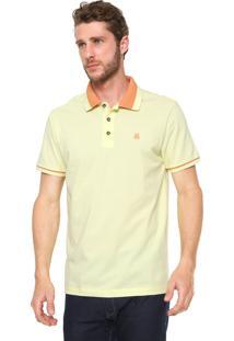 Camisa Polo John John Reta Vintage Amarela