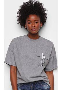 Camiseta Colcci Com Bolso Feminina - Feminino-Grafite