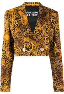 Versace Jeans Couture Baroque Cropped Jacket - Dourado