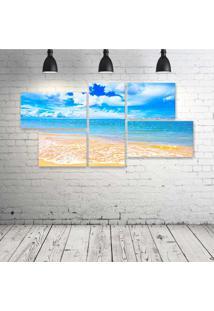 Quadro Decorativo - Mar-Praia - Composto De 5 Quadros