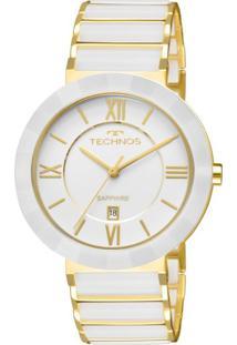 Relógio Technos Feminino Ceramic Analógico Branco 2015Bv4B