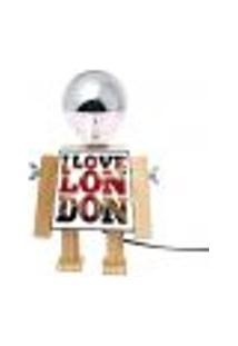 Abajur Robo Girl Love London Base E-27