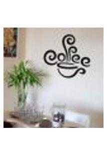Adesivo De Parede Para Cozinha Coffe - Médio