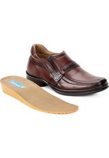 Sapato Conforto Couro Rafarillo Soft Confort Alth Fivela - Masculino