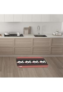 Tapete De Cozinha Mdecore Vaquinha Colorido 40X60Cm