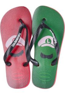 Sandalia Havaianas Mario Bros Rubi - Masculino-Vermelho+Verde