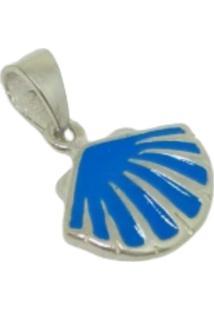 Pingente Lolla925 Concha Azul Miuda Prata 925 - Prata - Feminino - Dafiti