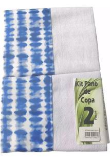 Kit Pano De Copa Sacaria Tie Dye Com 2 Peças