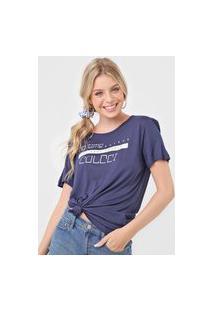 Camiseta Colcci No Time Azul-Marinho