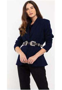 Blazer Elora Casual Feminino Azul