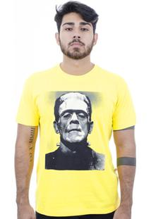 Camiseta Hardivision Frank Manga Curta - Masculino-Amarelo