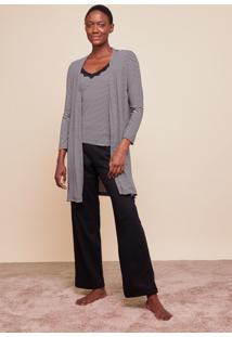 Conjunto Amaro Pijama 3 Peã§As Listrado Pb - Multicolorido - Feminino - Dafiti