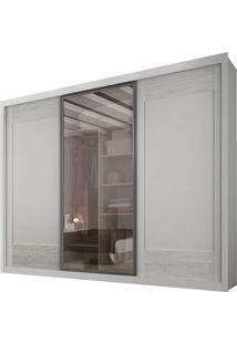 Guarda-Roupa Ravena Reflecta Com Espelho - 3 Portas - 100% Mdf - Branco