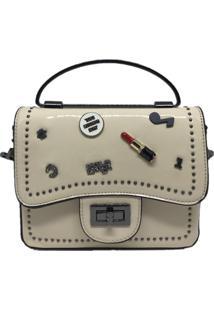 Mini Bolsa Casual Importada Sys Fashion 8309 Creme