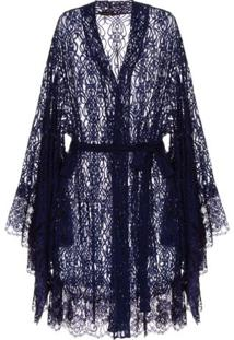 Robe Tule Passione Loungerie – Azul Marinho