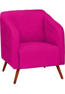 Poltrona Decorativa Silmara Suede Pink Pés Palito Condor Drossi
