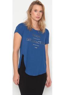 Camiseta Com Inscriã§Ãµes - Azul & Prateada - Forumforum