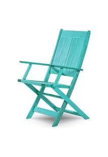 Cadeira Retangular Dobravel Acqualung+ C/ Braco Estrutura Azul 99Cm - 61640 Azul