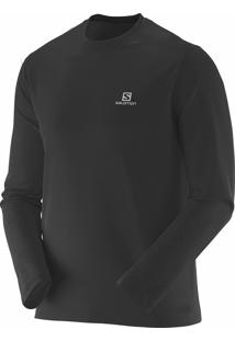 Camiseta Manga Longa Salomon Masculina Comet Preto Gg