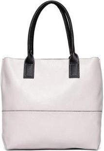 Bolsa Nice Bag Tote Alça Dupla Fixa Feminina - Feminino-Off White