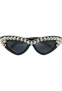 ... Moschino Óculos De Sol De Gatinho Com Tachas - Preto 410a45162e