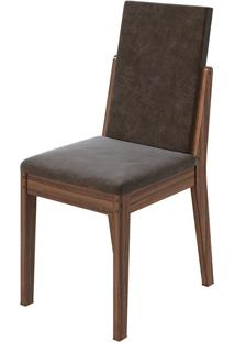 Cadeira Lira Velvet Chocolate Imbuia Naturale