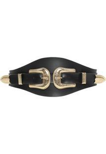 Cinto Higher Lolla'S Belt Gold - Preto - Feminino - Dafiti
