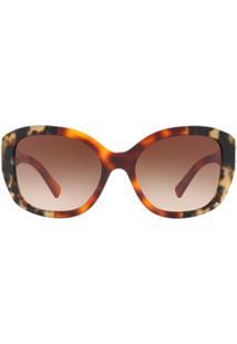 Burberry Eyewear Óculos De Sol - Marrom