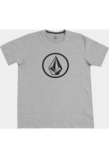 Camiseta Volcom Plus Size Silk Circle Stone Masculina - Masculino