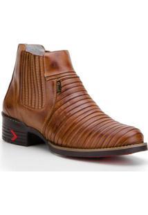 Bota Capelli Boots Tatu Couro Recortes Masculina - Masculino-Marrom