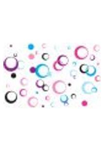 Adesivo De Parede Arcos Coloridos Rosa Lilás