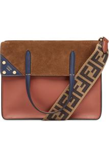 Fendi Medium Flip Shoulder Bag - Marrom