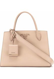 Prada Bolsa Shopping Monochrome - Neutro