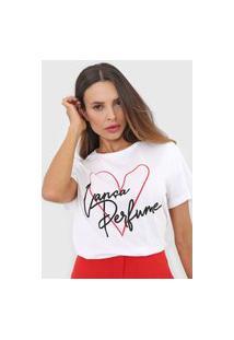 Camiseta Lança Perfume Coração Branca