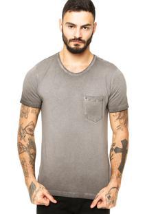 Camiseta Sergio K Bolso Cinza