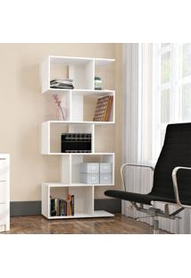 Estante Livreiro 5 Nichos Office Plus Branco Lilies Mã³Veis - Branco - Dafiti